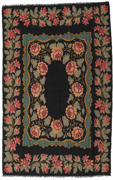 Rose Kelim Moldavia Rug 173X275 Authentic  Oriental Handwoven Black/Dark Grey (Wool, Moldova)