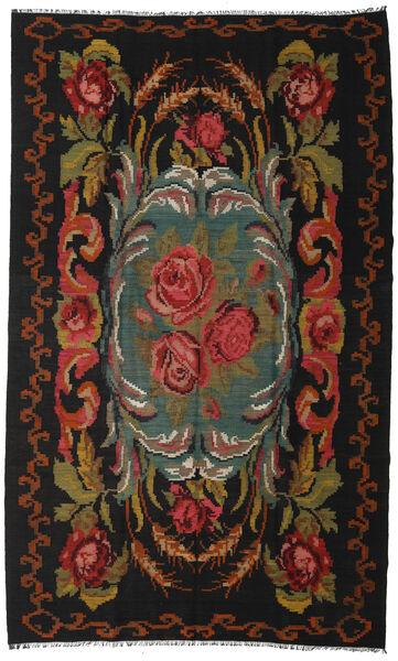 Rosenkelim Moldavia Matta 192X317 Äkta Orientalisk Handvävd Svart/Brun (Ull, Moldavien)