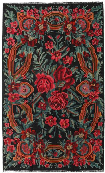Rose Kelim Moldavia Rug 170X275 Authentic  Oriental Handwoven Black/Dark Red (Wool, Moldova)