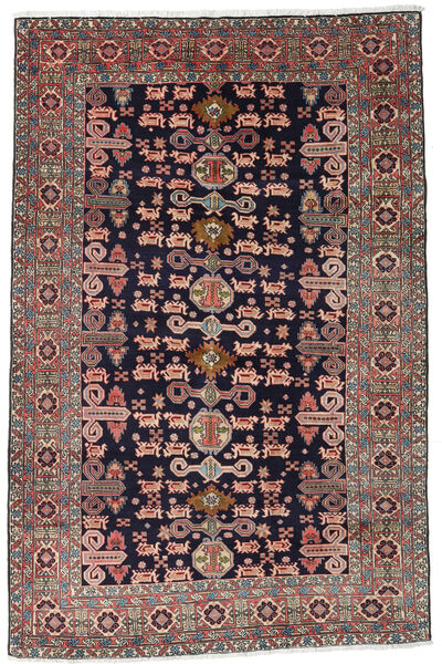 Ardebil Rug 172X265 Authentic  Oriental Handknotted Dark Purple/Dark Red (Wool, Persia/Iran)