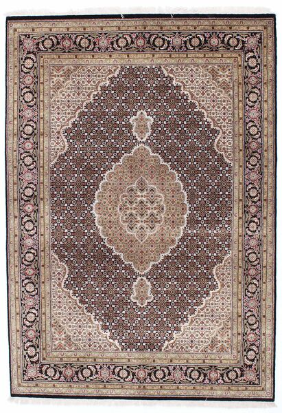 Tabriz Royal Rug 171X242 Authentic  Oriental Handknotted Light Brown/Light Grey ( India)