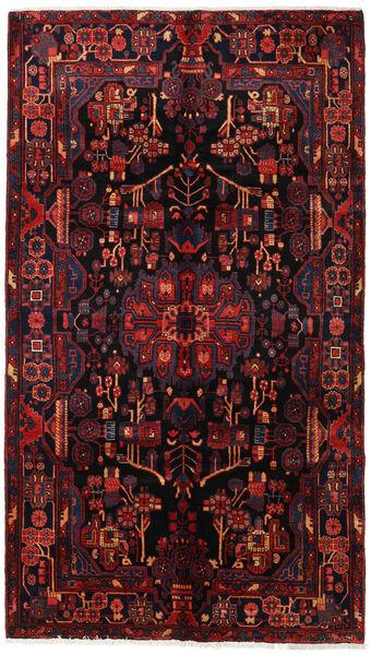 Nahavand Matto 160X281 Itämainen Käsinsolmittu Tummanruskea/Tummanpunainen (Villa, Persia/Iran)