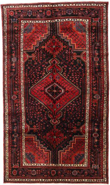 Nahavand Matta 154X262 Äkta Orientalisk Handknuten Mörkröd/Mörkbrun (Ull, Persien/Iran)