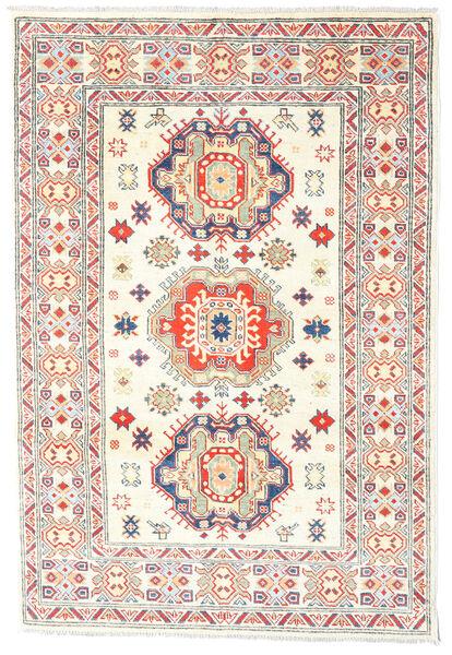 Kazak Rug 121X179 Authentic  Oriental Handknotted Beige/Light Pink (Wool, Pakistan)