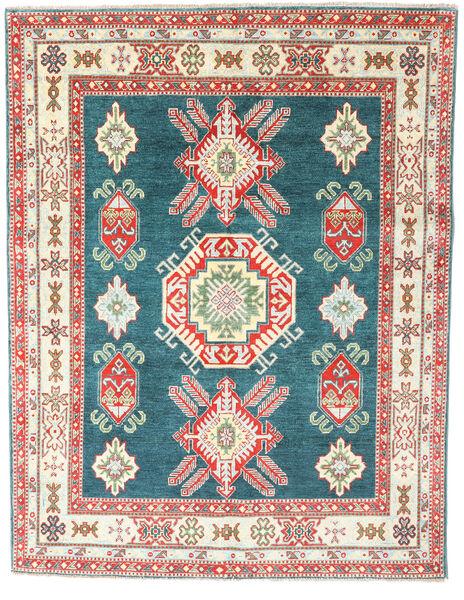Kazak Matta 156X202 Äkta Orientalisk Handknuten Beige/Roströd (Ull, Pakistan)