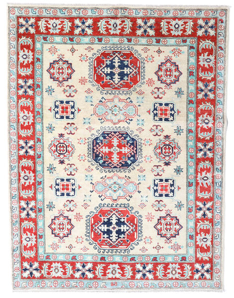 Kazak Rug 155X202 Authentic  Oriental Handknotted Beige/Light Grey (Wool, Pakistan)