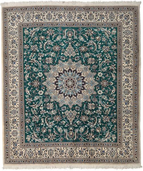 Nain Rug 250X295 Authentic  Oriental Handknotted Light Grey/Dark Grey Large (Wool, Persia/Iran)