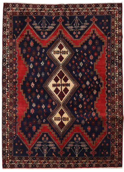 Afshar Szőnyeg 163X223 Keleti Csomózású Fekete/Sötétpiros (Gyapjú, Perzsia/Irán)