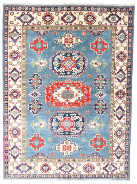 Kazak Teppe 180X242 Ekte Orientalsk Håndknyttet Beige/Lys Blå (Ull, Pakistan)