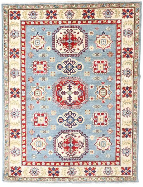 Kazak Rug 152X200 Authentic  Oriental Handknotted Beige/Light Grey (Wool, Pakistan)