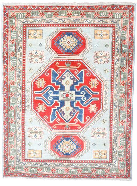 Kazak Matto 155X205 Itämainen Käsinsolmittu Vaaleanpunainen/Vaaleanharmaa (Villa, Pakistan)