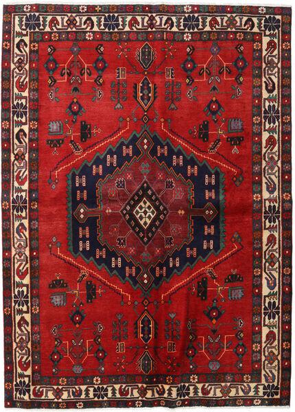 Afshar Matto 165X230 Itämainen Käsinsolmittu Tummanpunainen/Ruoste (Villa, Persia/Iran)