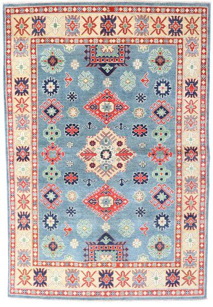 Kazak Matto 169X228 Itämainen Käsinsolmittu Beige/Vaaleansininen (Villa, Pakistan)