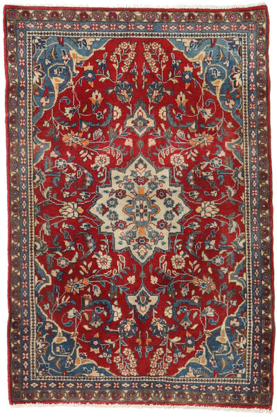 Hamadan Rug 80X121 Authentic  Oriental Handknotted Dark Red/Black (Wool, Persia/Iran)