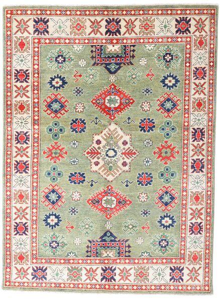 Kazak Dywan 147X199 Orientalny Tkany Ręcznie Beżowy/Ciemnobeżowy (Wełna, Pakistan)