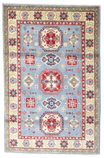 Kazak Rug 118X182 Authentic  Oriental Handknotted Beige/Light Grey (Wool, Pakistan)