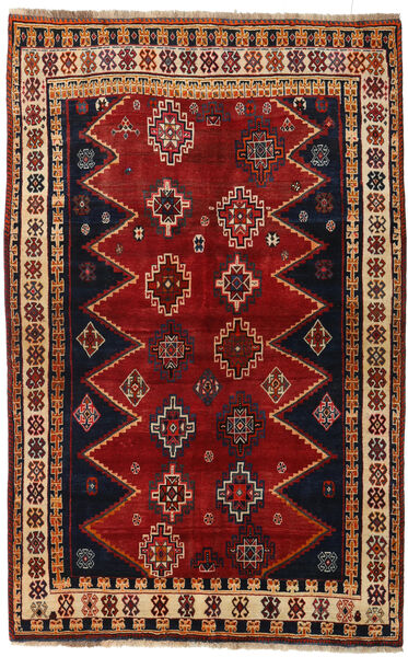 Ghashghai Teppe 145X231 Ekte Orientalsk Håndknyttet Mørk Rød/Svart (Ull, Persia/Iran)