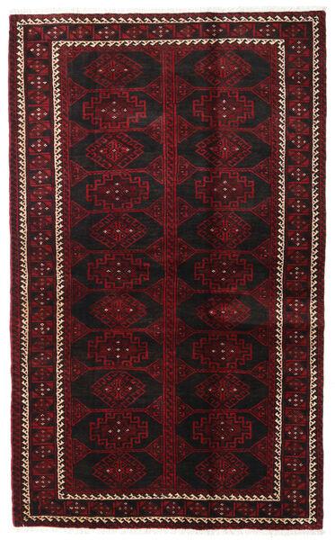 バルーチ 絨毯 125X204 オリエンタル 手織り 濃い茶色/深紅色の (ウール, ペルシャ/イラン)
