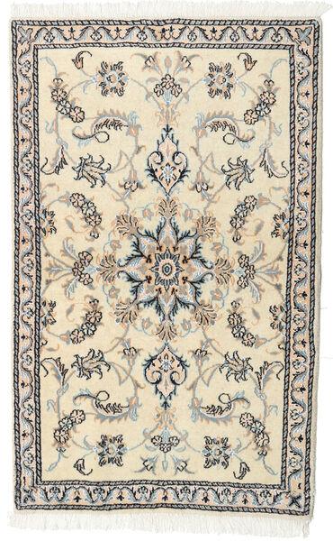 Nain Teppe 87X141 Ekte Orientalsk Håndknyttet Beige/Lys Grå (Ull, Persia/Iran)