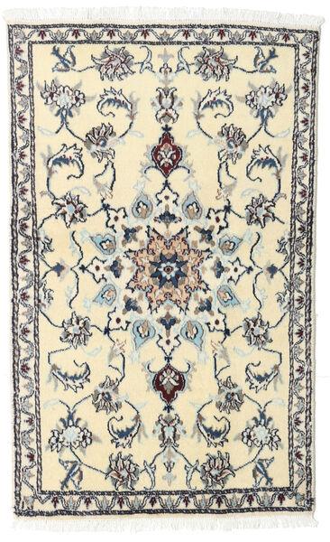 Nain Teppe 90X143 Ekte Orientalsk Håndknyttet Beige/Mørk Beige (Ull, Persia/Iran)