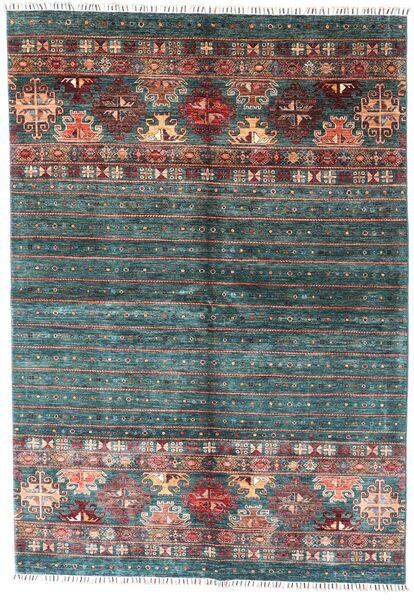 Shabargan Sag 172X249 Autentični  Moderni Ručno Uzlan Tamnozelena (Vuna, Afganistan)
