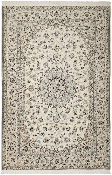 Nain 6La Rug 160X233 Authentic  Oriental Handknotted Light Grey/Beige (Wool/Silk, Persia/Iran)