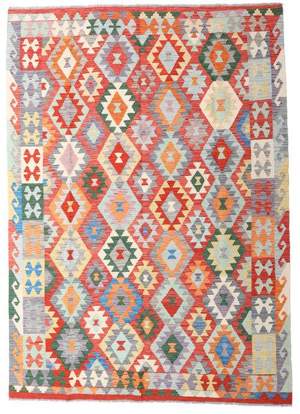 キリム アフガン オールド スタイル 絨毯 170X239 オリエンタル 手織り 薄い灰色/錆色 (ウール, アフガニスタン)