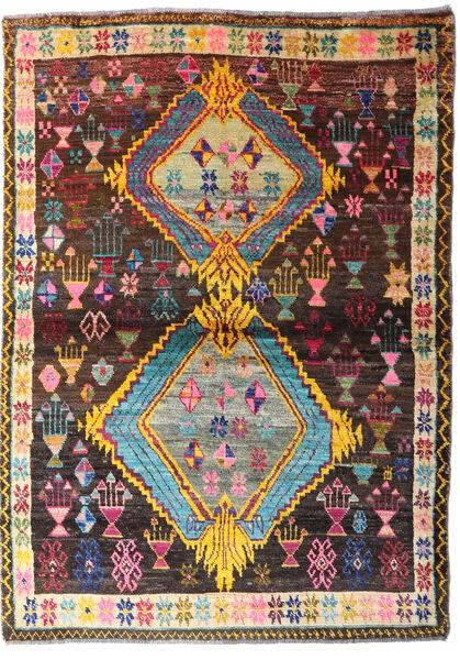 Moroccan Berber - Afghanistan Dywan 124X172 Nowoczesny Tkany Ręcznie Ciemnobrązowy (Wełna, Afganistan)
