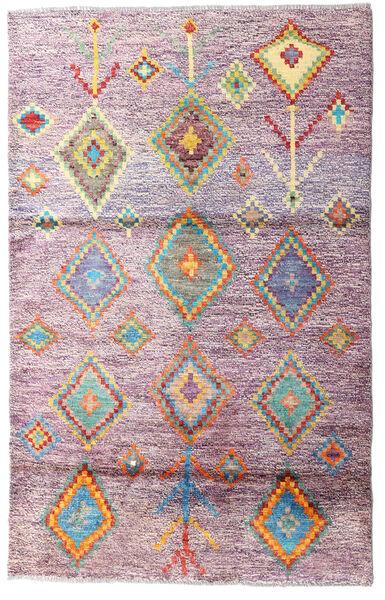 Moroccan Berber - Afghanistan 絨毯 111X178 モダン 手織り ライトピンク/ピンク (ウール, アフガニスタン)