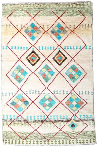 Moroccan Berber - Afghanistan 絨毯 118X184 モダン 手織り ホワイト/クリーム色/ベージュ (ウール, アフガニスタン)