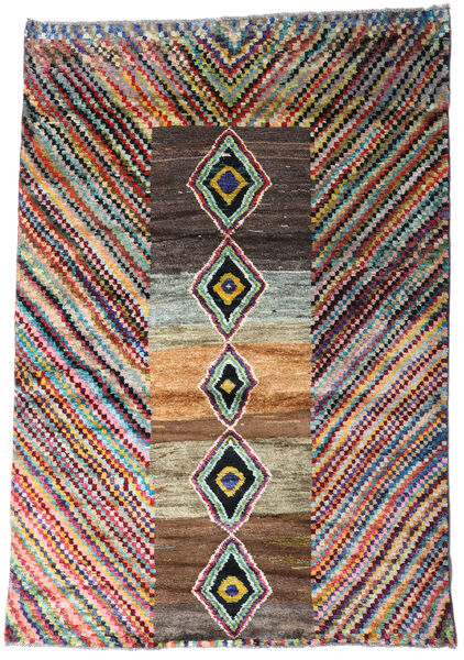 Moroccan Berber - Afghanistan 絨毯 121X177 モダン 手織り 濃い茶色/黒 (ウール, アフガニスタン)