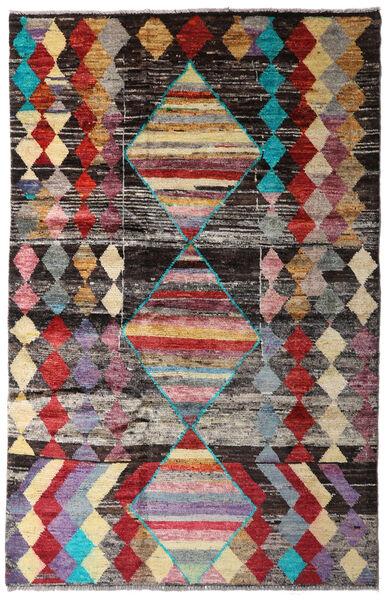 Moroccan Berber - Afghanistan 絨毯 115X182 モダン 手織り 濃い茶色/薄い灰色 (ウール, アフガニスタン)