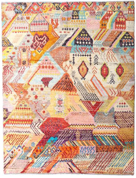 Moroccan Berber - Afghanistan 絨毯 151X197 モダン 手織り ベージュ/ライトピンク (ウール, アフガニスタン)