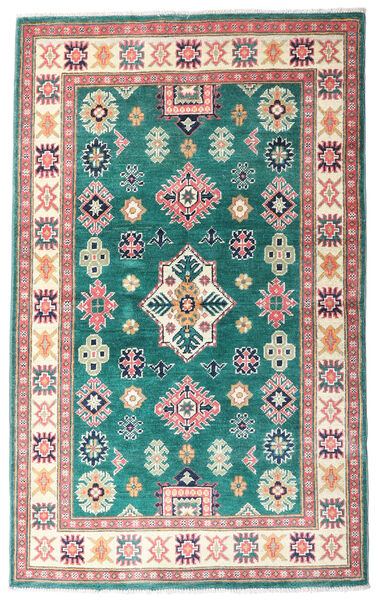 Kazak Rug 95X154 Authentic  Oriental Handknotted Beige/Light Pink (Wool, Pakistan)