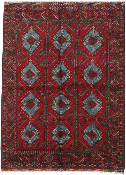Afghan Rug 175X234 Authentic  Oriental Handknotted Dark Red/Black (Wool, Afghanistan)