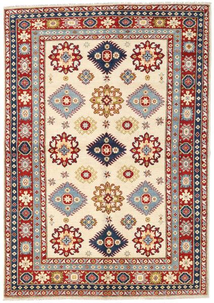 Kazak Rug 171X247 Authentic  Oriental Handknotted Beige/Dark Brown (Wool, Pakistan)