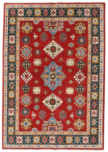 Kazak Rug 168X242 Authentic  Oriental Handknotted Rust Red/Dark Grey (Wool, Pakistan)