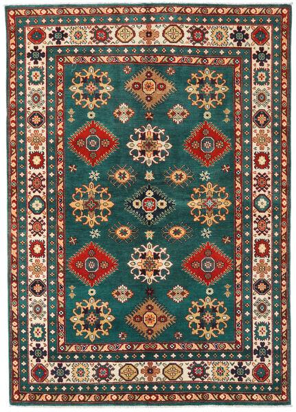Kazak Rug 168X237 Authentic  Oriental Handknotted Dark Red/Dark Turquoise   (Wool, Pakistan)