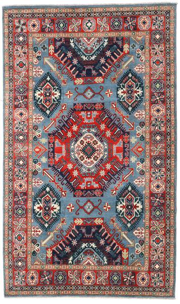 カザック 絨毯 198X332 オリエンタル 手織り 濃いグレー/深紅色の (ウール, パキスタン)