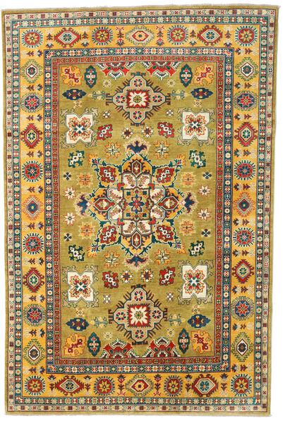 カザック 絨毯 194X295 オリエンタル 手織り 濃いグレー/黄色 (ウール, パキスタン)