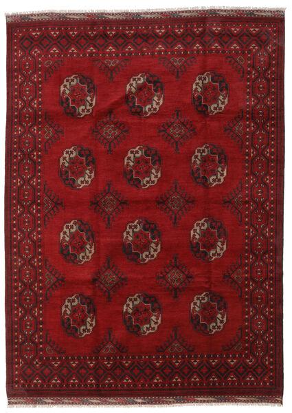 Afghan Teppe 203X277 Ekte Orientalsk Håndknyttet Mørk Rød/Rød (Ull, Afghanistan)