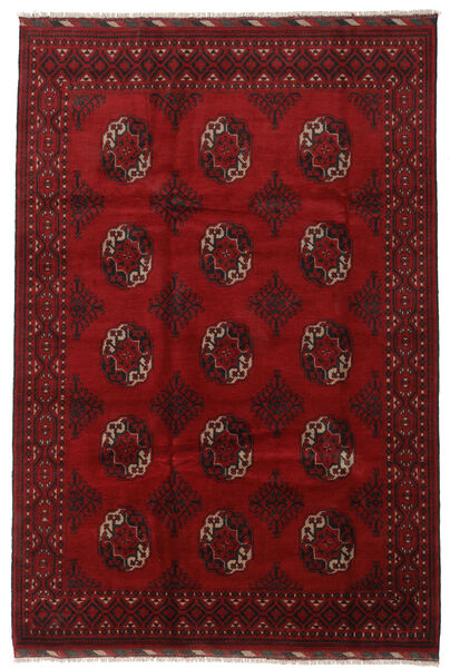 アフガン 絨毯 202X300 オリエンタル 手織り 深紅色の/赤 (ウール, アフガニスタン)
