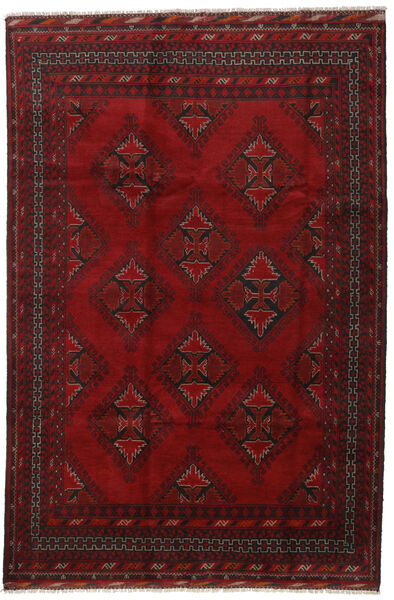 Afghan Rug 194X290 Authentic  Oriental Handknotted Dark Red/Crimson Red (Wool, Afghanistan)