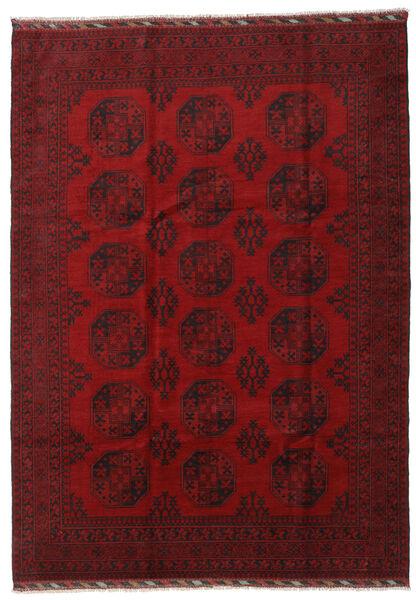 Afgan Dywan 206X288 Orientalny Tkany Ręcznie Ciemnoczerwony/Czerwony (Wełna, Afganistan)