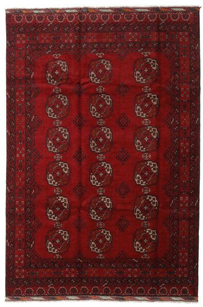 Afghan Rug 196X291 Authentic  Oriental Handknotted Dark Red/Crimson Red (Wool, Afghanistan)