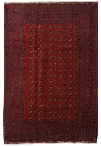 アフガン 絨毯 202X298 オリエンタル 手織り 深紅色の (ウール, アフガニスタン)
