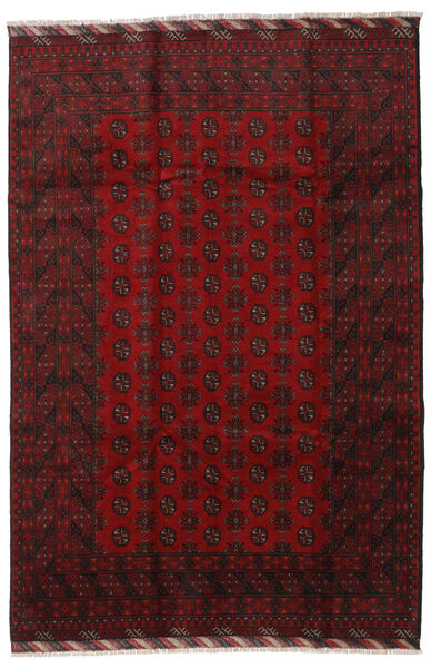 Afghan Rug 201X298 Authentic  Oriental Handknotted Dark Red (Wool, Afghanistan)