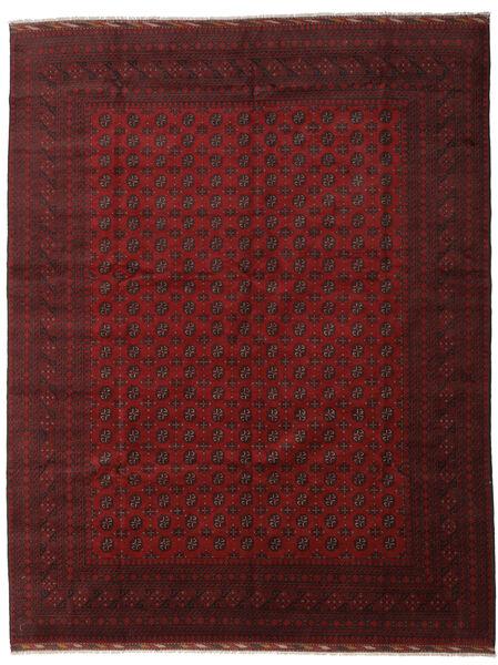 アフガン 絨毯 304X390 オリエンタル 手織り 深紅色の 大きな (ウール, アフガニスタン)