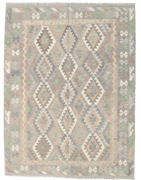 キリム アフガン オールド スタイル 絨毯 177X236 オリエンタル 手織り 薄い灰色/ベージュ (ウール, アフガニスタン)