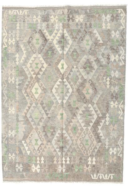 キリム アフガン オールド スタイル 絨毯 172X242 オリエンタル 手織り 薄い灰色/暗めのベージュ色の (ウール, アフガニスタン)